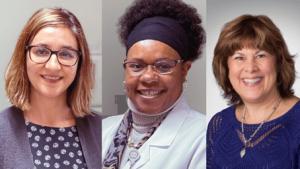 Patricia Andres-Sanmartin, Lilcelia Williams, and Dr. Linda Robertson